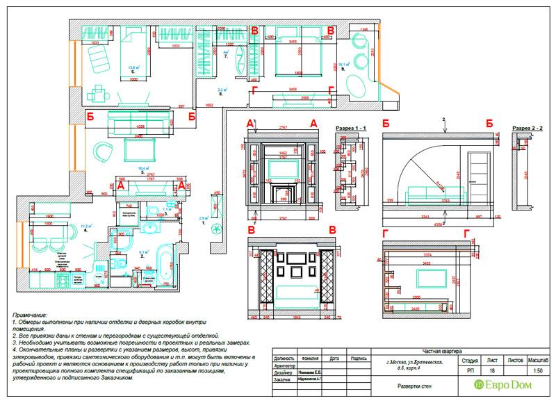 Дизайн 3-комнатной квартиры 76 кв. м в стиле тиффани. Фото 053