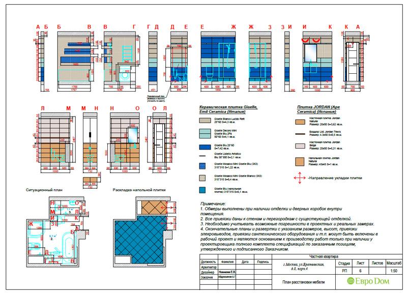 Дизайн 3-комнатной квартиры 76 кв. м в стиле тиффани. Фото 054
