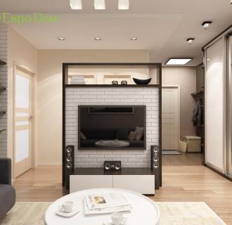Дизайн трехкомнатной квартиры 71 кв. м в современном стиле. Фото проекта