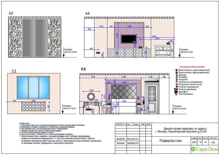 Дизайн-проекты. Стиль: Неоклассика. Рабочие чертежи. Фото 17