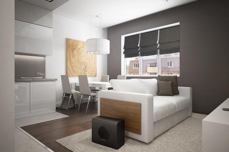 3D-визуализация гостиной