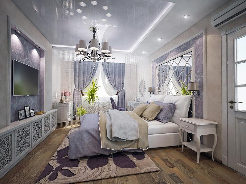 3D визуализация, спальня. I вариант