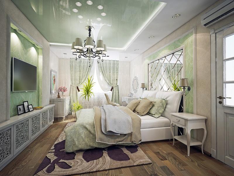 3D визуализация, спальня. II вариант
