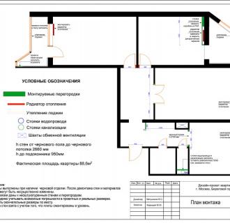 Дизайн трехкомнатной квартиры 89 кв. м в классическом стиле. Фото проекта