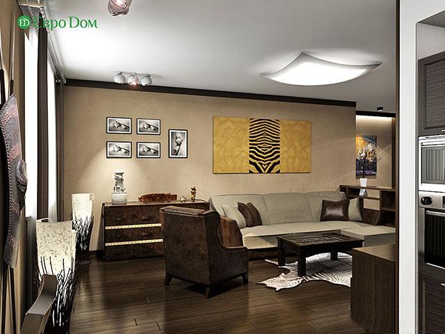 Дизайн-проекты. Стиль: Современный, Африканский. ЗD визуализация. Фото 3
