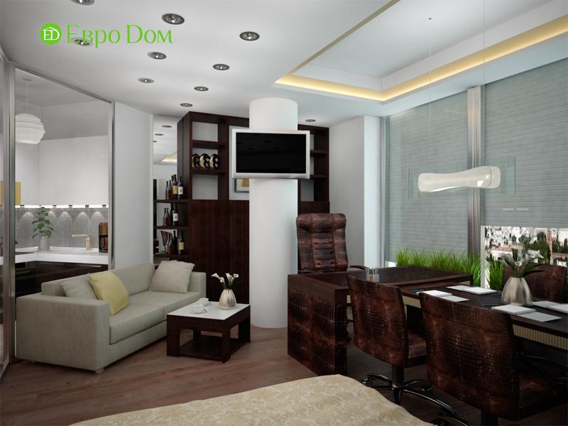 Дизайн 1-комнатной квартиры в современном стиле. Фото 04