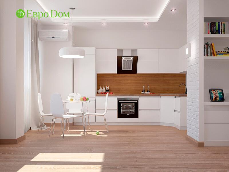 Просторная белая кухня