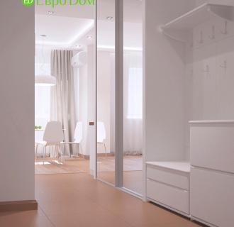 Дизайн однокомнатной квартиры 47 кв. м в стиле белый лофт. Фото проекта