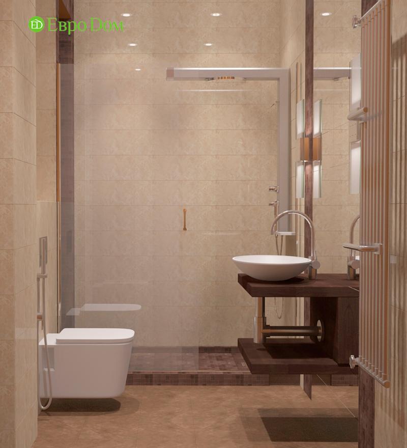 Интерьер ванной комнаты в бежевом цвете