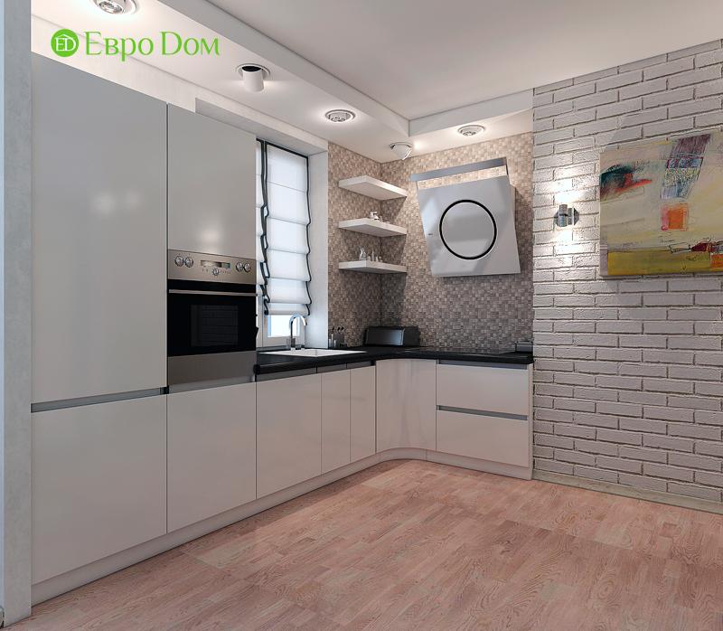Дизайн двухкомнатной квартиры 52 кв. м в стиле лофт. Фото 03
