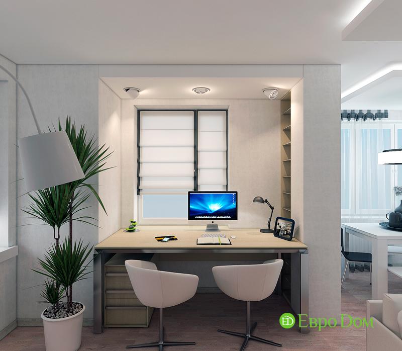 Дизайн двухкомнатной квартиры 52 кв. м в стиле лофт. Фото 04