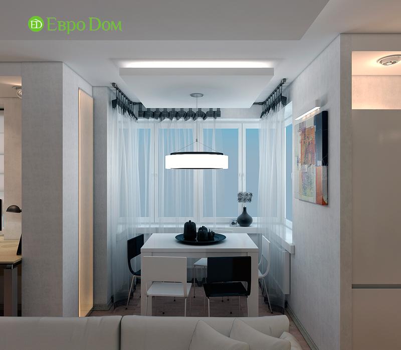 Дизайн двухкомнатной квартиры 52 кв. м в стиле лофт. Фото 05