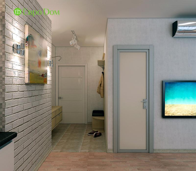 Дизайн двухкомнатной квартиры 52 кв. м в стиле лофт. Фото 06