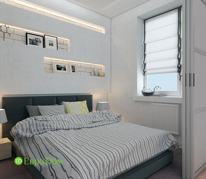 Дизайн двухкомнатной квартиры 52 кв. м в стиле лофт. Фото 08
