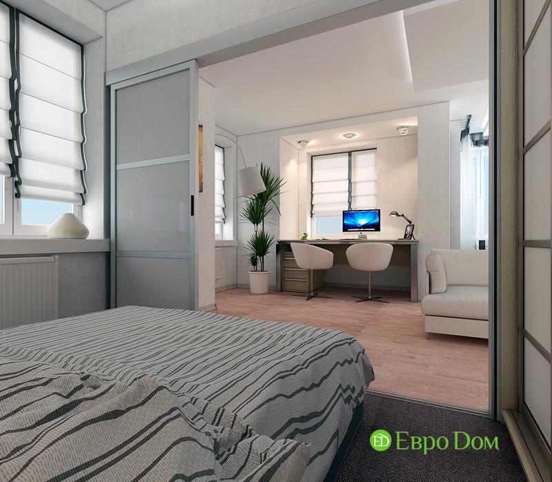 Дизайн двухкомнатной квартиры 52 кв. м в стиле лофт. Фото 010
