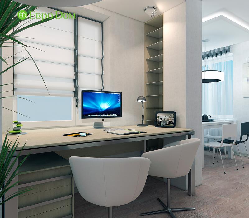 Дизайн двухкомнатной квартиры 52 кв. м в стиле лофт. Фото 011