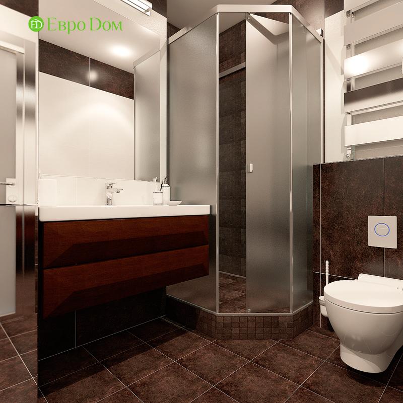 Дизайн двухкомнатной квартиры 52 кв. м в стиле лофт. Фото 012