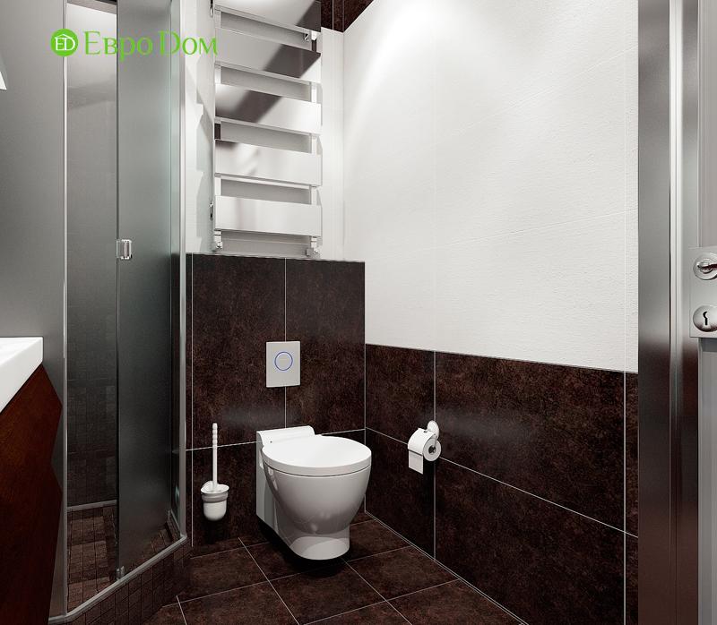 Дизайн двухкомнатной квартиры 52 кв. м в стиле лофт. Фото 014