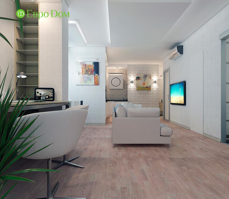 Дизайн двухкомнатной квартиры 52 кв. м в стиле лофт. Фото 015