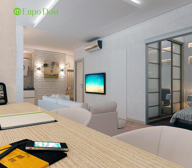 Дизайн двухкомнатной квартиры 52 кв. м в стиле лофт. Фото 016