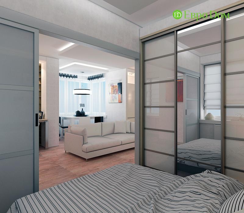 Дизайн двухкомнатной квартиры 52 кв. м в стиле лофт. Фото 018