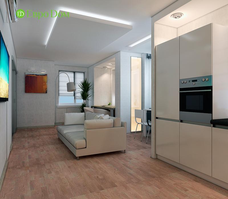Дизайн двухкомнатной квартиры 52 кв. м в стиле лофт. Фото 019