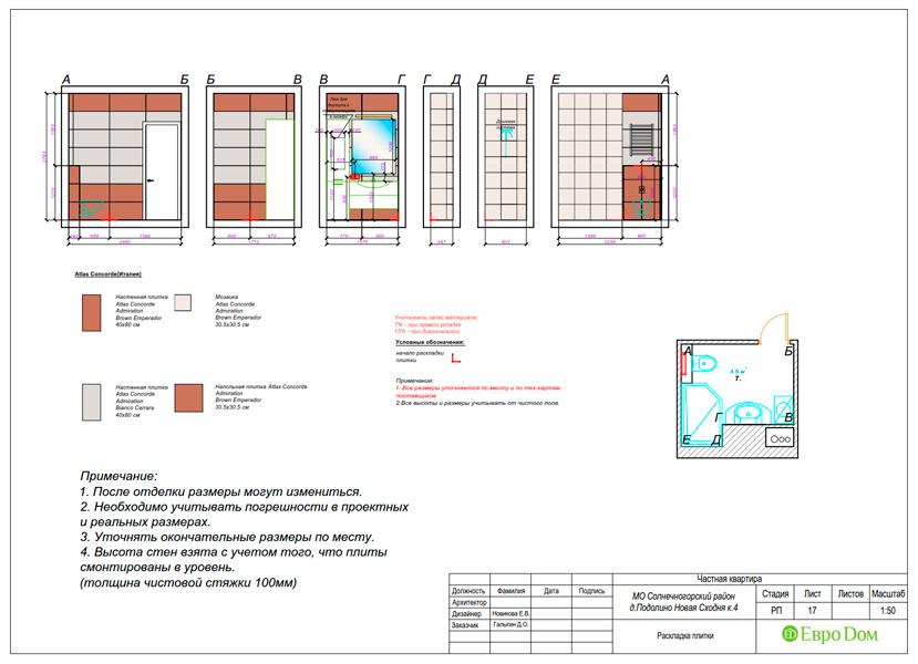 Дизайн двухкомнатной квартиры 52 кв. м в стиле лофт. Фото 035