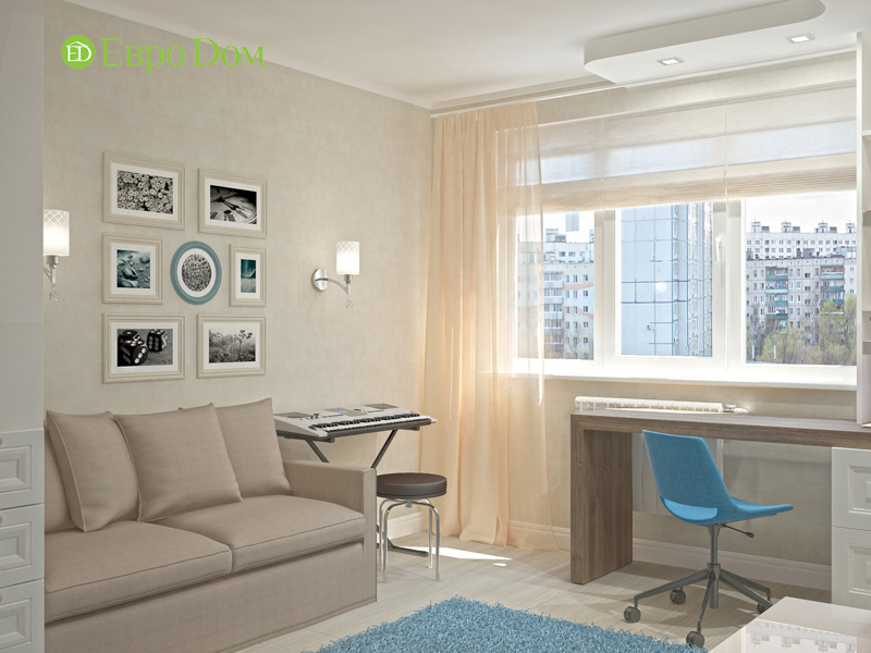 Дизайн 4-комнатной квартиры 200 кв. м в современном стиле. Фото 013