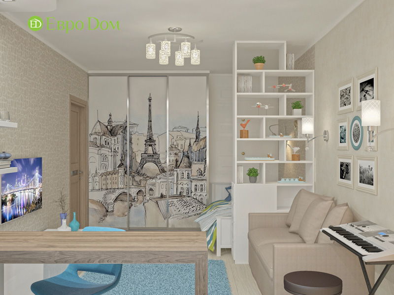Дизайн 4-комнатной квартиры 200 кв. м в современном стиле. Фото 014