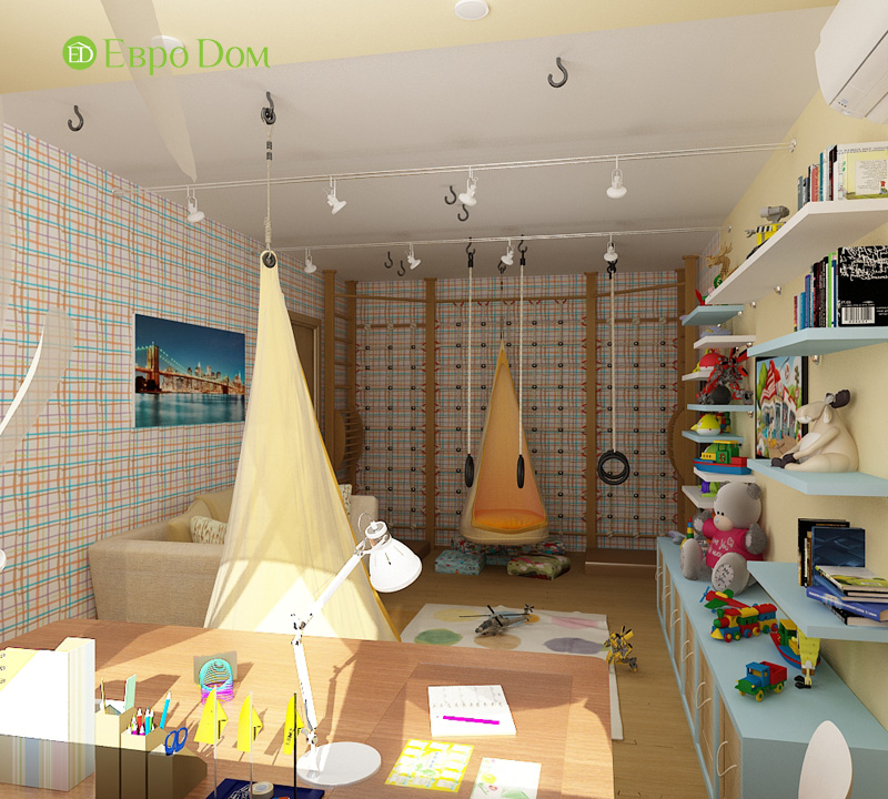 Дизайн 4-комнатной квартиры 200 кв. м в современном стиле. Фото 024