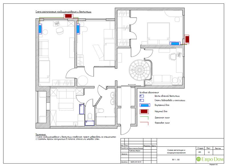 Дизайн 4-комнатной квартиры 200 кв. м в современном стиле. Фото 057