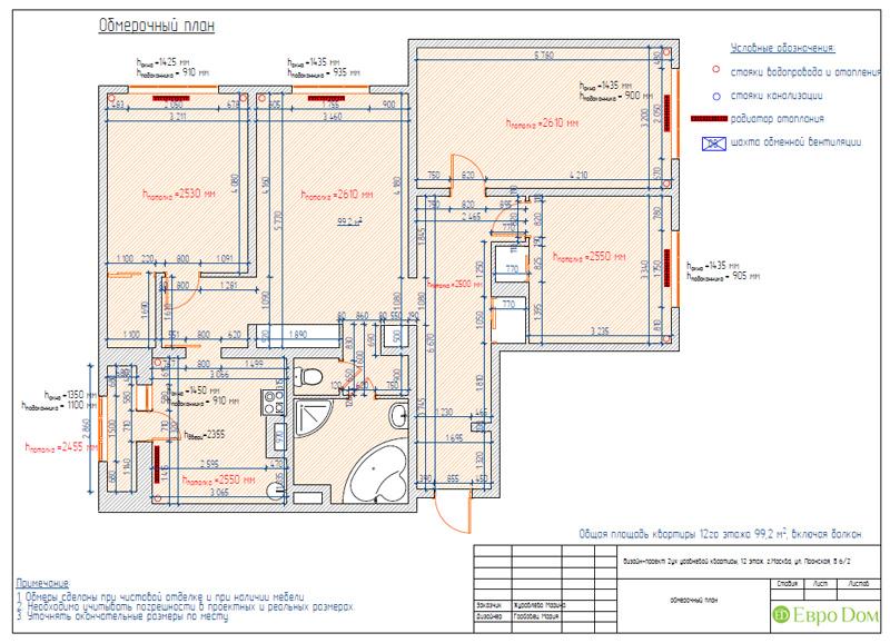 Дизайн 4-комнатной квартиры 200 кв. м в современном стиле. Фото 069