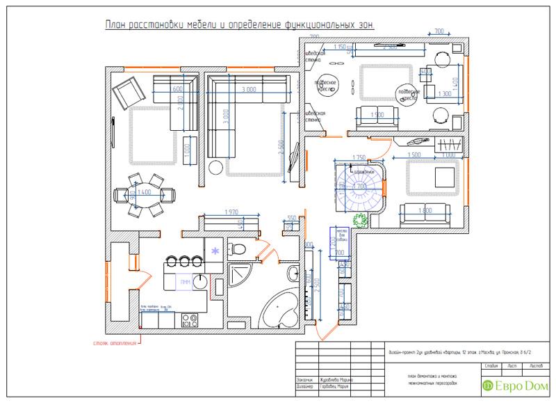 Дизайн 4-комнатной квартиры 200 кв. м в современном стиле. Фото 072