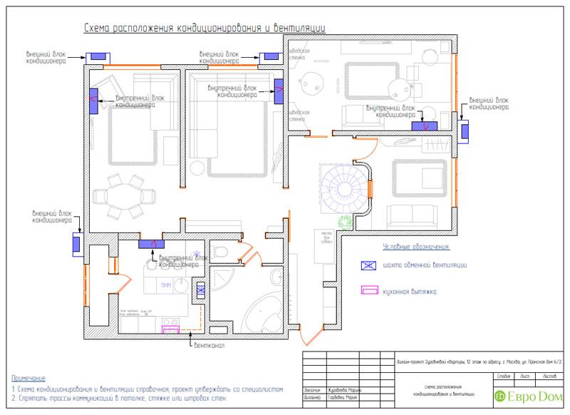 Дизайн 4-комнатной квартиры 200 кв. м в современном стиле. Фото 078
