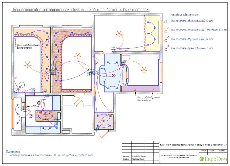 Дизайн 4-комнатной квартиры 200 кв. м в современном стиле. Фото 081