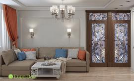 Дизайн интерьера четырехкомнатной квартиры 74 кв.м. по адресу Москва, Свободный проспект, д. 11, корп. 5. Фото 1
