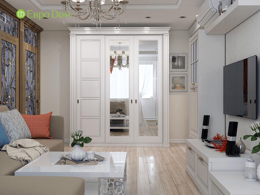 Дизайн четырехкомнатной квартиры 74 кв. м в классическом стиле. Фото 09