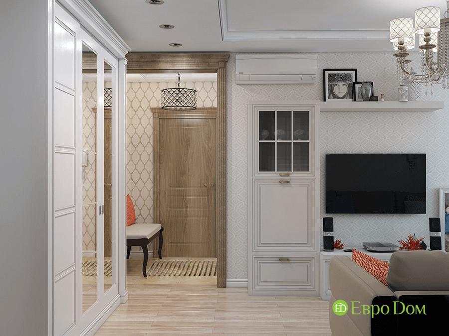 Дизайн четырехкомнатной квартиры 74 кв. м в классическом стиле. Фото 010