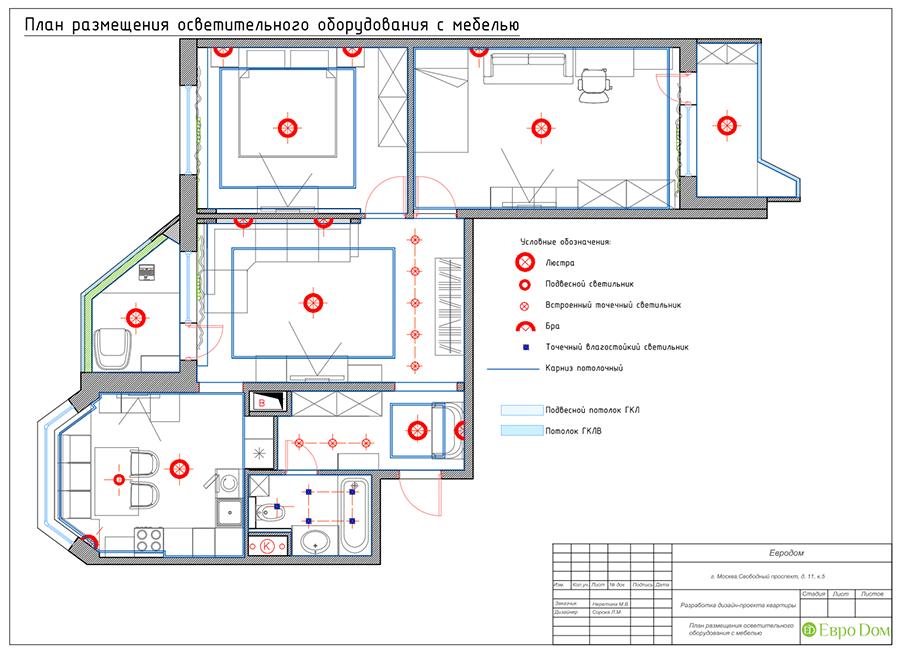 Дизайн четырехкомнатной квартиры 74 кв. м в классическом стиле. Фото 042