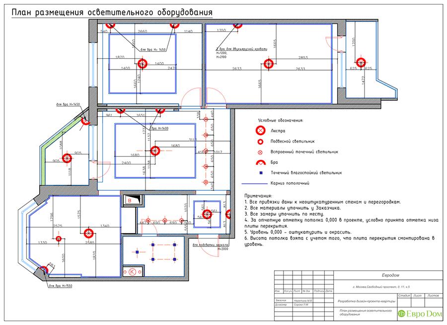 Дизайн четырехкомнатной квартиры 74 кв. м в классическом стиле. Фото 043
