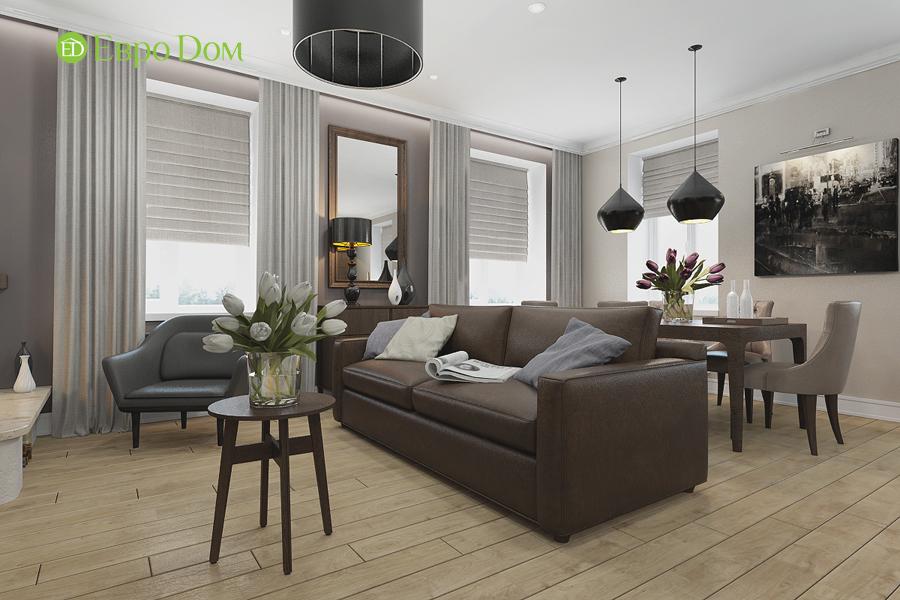 Дизайн 4-комнатной квартиры в современном стиле. Фото 05