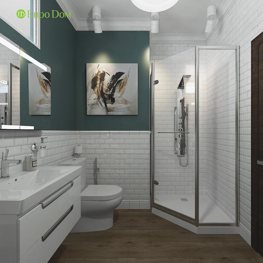 Дизайн 4-комнатной квартиры в современном стиле. Фото 014