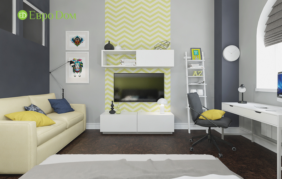 Дизайн 4-комнатной квартиры в современном стиле. Фото 021