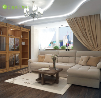 Дизайн четырехкомнатной квартиры 117 кв. м в современном стиле. Фото проекта