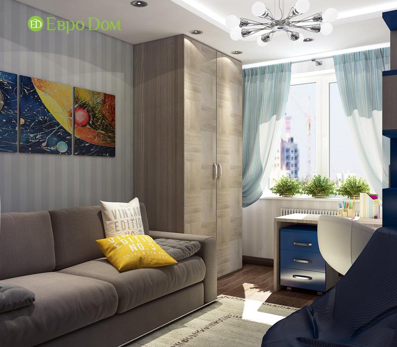 Дизайн 4-комнатной квартиры в современном стиле. Фото 016