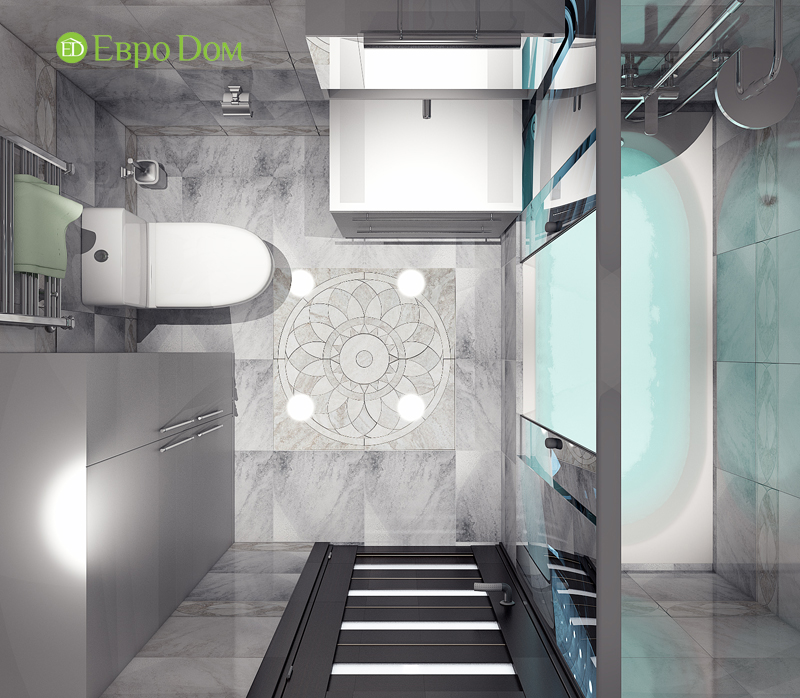 Дизайн 4-комнатной квартиры в современном стиле. Фото 023