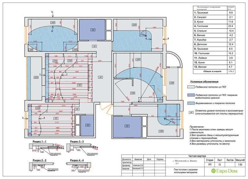Дизайн 4-комнатной квартиры в современном стиле. Фото 043