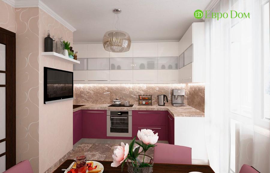 На фото: кухонное помещение в стиле фьюжн
