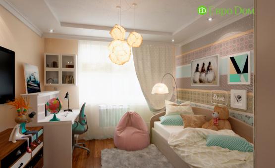 Дизайн интерьера четырехкомнатной квартиры 102 кв.м. по адресу г. Москва, ул. Инженерная, д. 8а. Фото 2