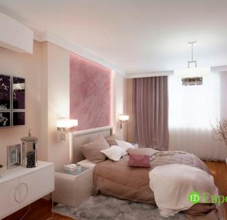 Дизайн четырехкомнатной квартиры 102 кв. м в стиле фьюжн. Фото проекта